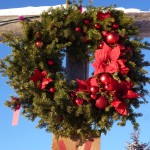 wreath poinsetta